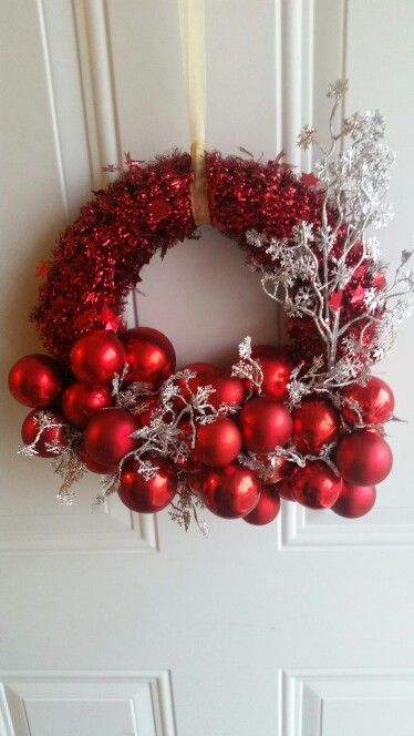 My dollar tree Christmas wreath