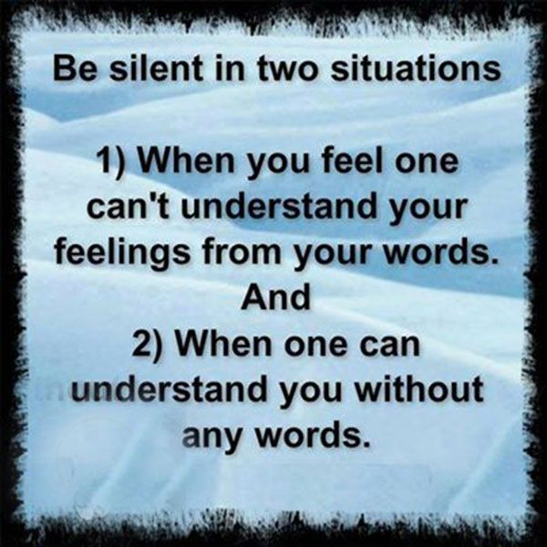 BE Silent In Two Situations.. #Quotes #Daily #Famous