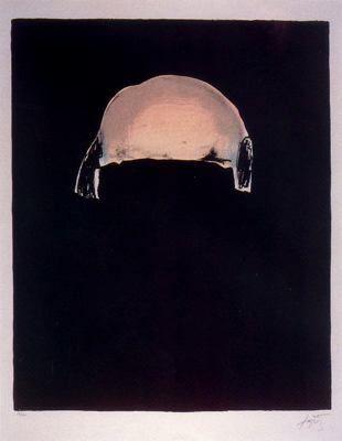 """Antoni Tàpies Puig (1923-2012) . """"Fregoli (6), 1969"""". Augaforte. 76 x 56 cm."""