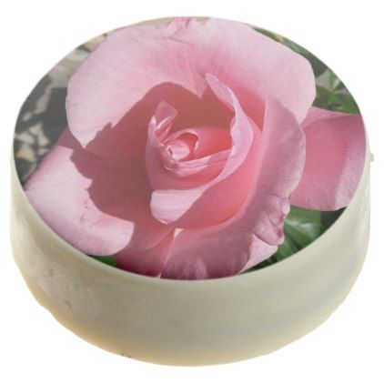 Pink Rose Chocolate Dipped Oreo - floral style flower flowers stylish diy personalize