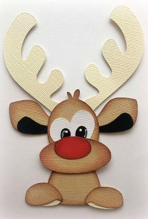PEEKING REINDEER CHRISTMAS PREMADE PAPER PIECING 3D DIE CUT MYTB KIRA #Handmade