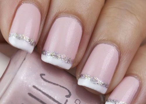 TOP 10 FRENCH TIP NAIL DESIGNS----Glittering French Tips
