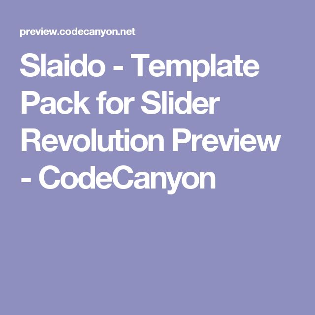 Slaido - Template Pack for Slider Revolution Preview - CodeCanyon