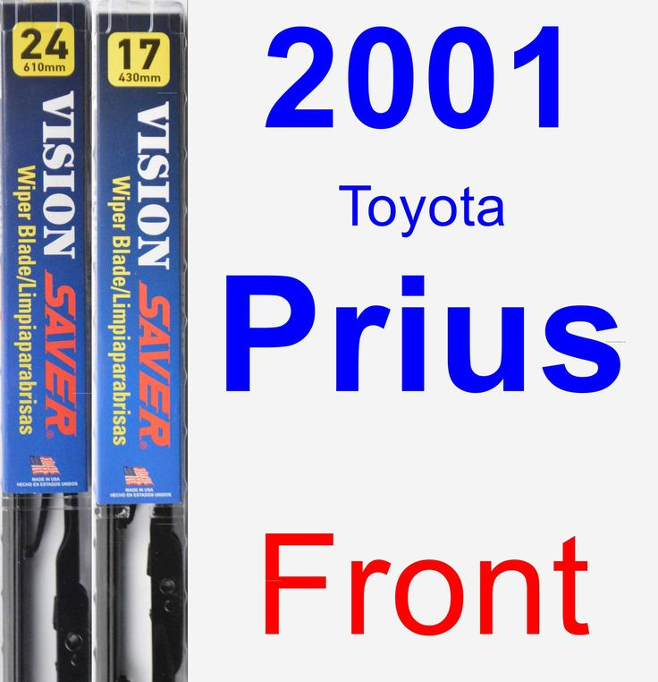 Front Wiper Blade Pack For 2001 Toyota Prius