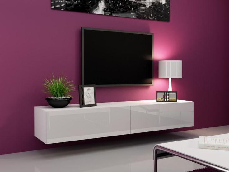 Wohnwand weiß hochglanz hängend  Die besten 20+ Lowboard hängend Ideen auf Pinterest | Tv lowboard ...