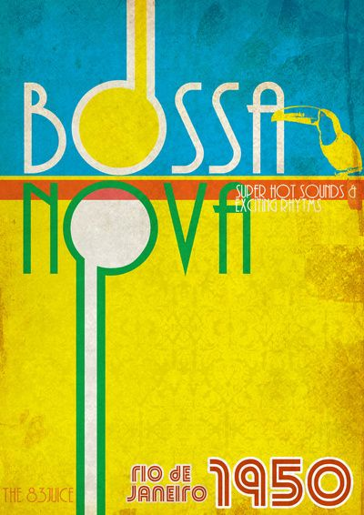 Lady Fingers...we love vintage posters like this one...the design of it, the tucan, and the fact that I'm Brazilian draws me to it even more. Bossa Nova, Brazil. Bold and bright.