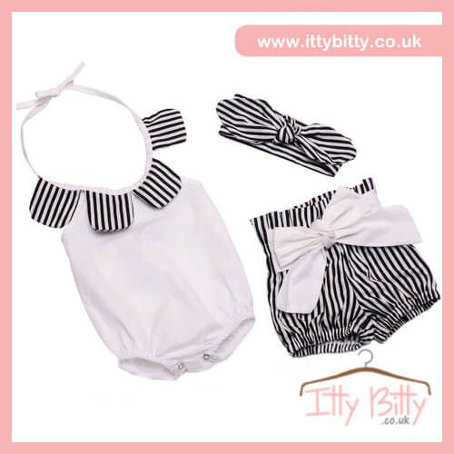 IN STOCK | £14.95  Shop here 👉🏻https://www.ittybitty.co.uk/product/itty-bitty-esme-3-piece-set/?utm_content=buffer36414&utm_medium=social&utm_source=pinterest.com&utm_campaign=buffer  🅿️ PayPal or 💳 Credit/Debit card 🔐Secure website #girls #summer #sets #bows #style