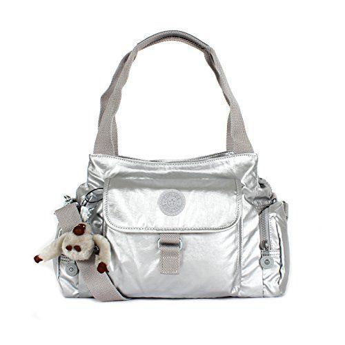 Kipling Women's Felix Large Metallic Handbag  Platinum Metallic