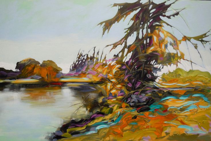 "End of Season, Shakespeare Pond  40""x60"""