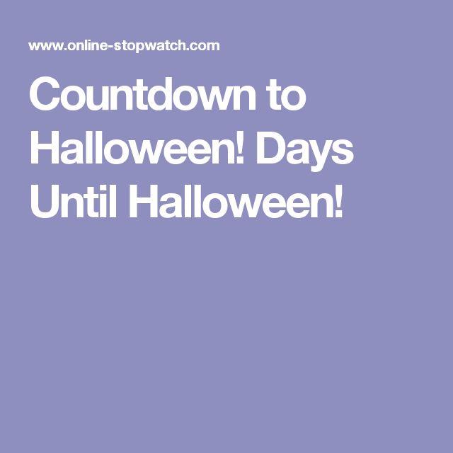 Countdown to Halloween! Days Until Halloween!