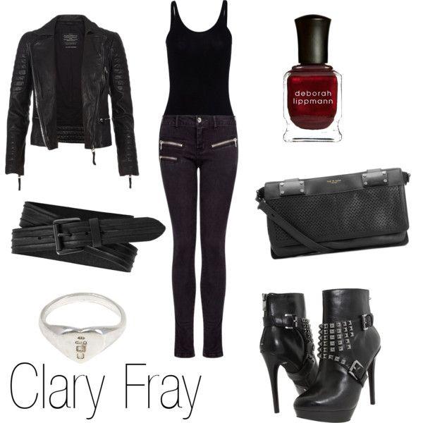 Clary Fray by ja-vy on Polyvore featuring moda, T By Alexander Wang, AllSaints, MANGO, MICHAEL Michael Kors, rag & bone, Macha, Deborah Lippmann and 7 Hills
