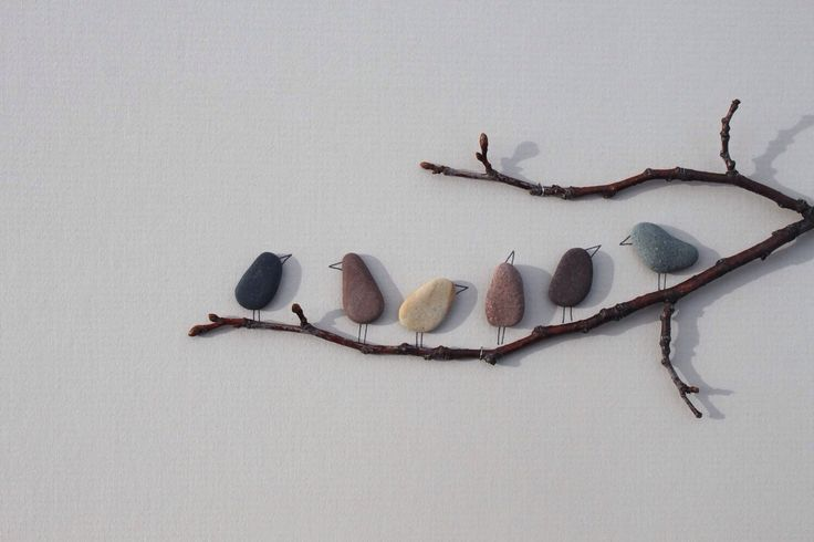 Pictures made of stones by Sharon Nowlan