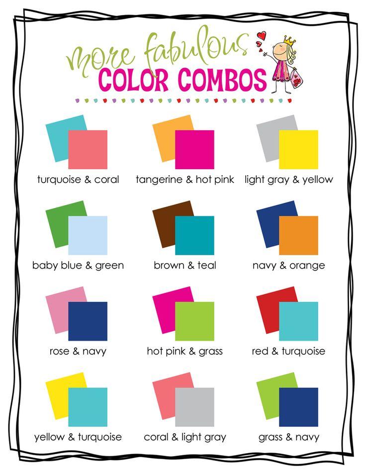 Color Combinations Combos Schemes