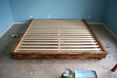 king size bed frame diy diy furniture pinterest king size platform bed platform beds and king size bed frame - Diy King Size Bed Frame