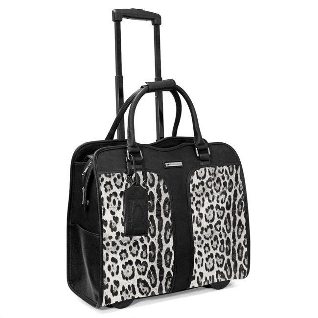 Cabrelli Safari Leopard Womens Rolling Laptop BAG Wheeled Case Carryon Briefcase | eBay