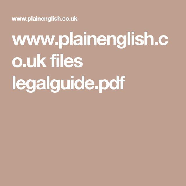 www.plainenglish.co.uk files legalguide.pdf