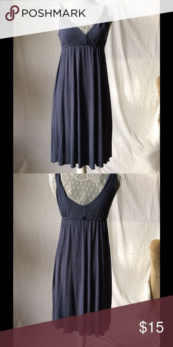 Old Navy sleeveless polka dot summer dress sz XS Blue & white polka dot. Soft cotton perfect for casual summer wear. Old Navy Dresses