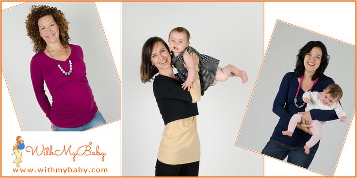 Long sleeved maternity and nursing tops are musthaves for cool weather.