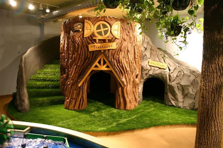 Treehouse fun times in a bedroom or basement if you have for Treehouse kids room