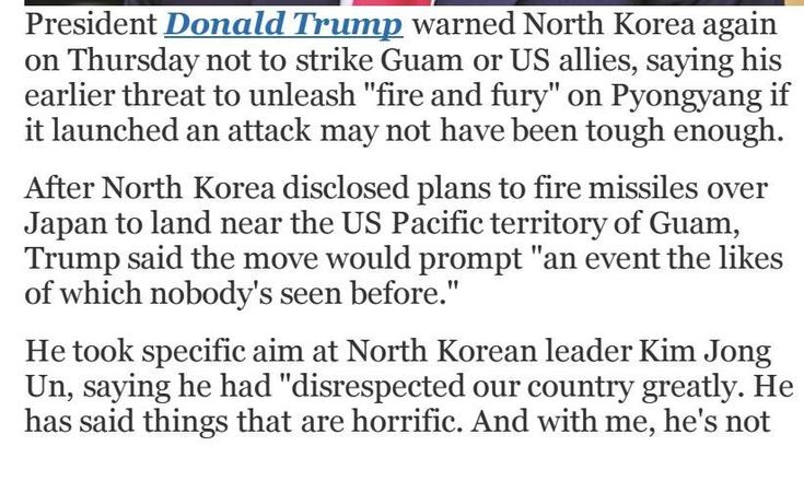 #ClippedOnIssuu from Fire and fury not tough enough donald trump sends n korea another warning