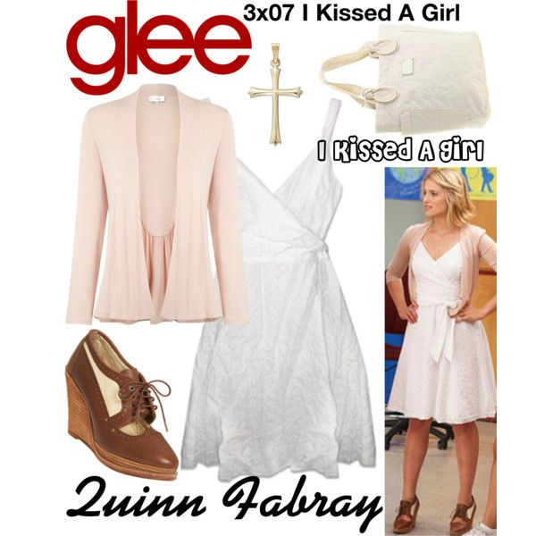 Quinn Fabray (Glee) : I Kissed A Girl by aure26 on Polyvore featuring mode, Kaliko and glee