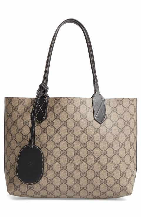 cd9b0af2b54717 Gucci Small Turnaround Reversible Leather Tote | KN - Handbags ...