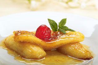 τηγανιτές μπανάνες με μέλι και σουσάμι