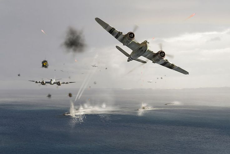 Beaufighters attacking E-boats by Gary Eason -   Six Bristol Beaufighters from No 236 Squadron, part of RAF Coastal Command's North Coates Strike Wing, strafing Kriegsmarine e-boats (schnellboot in German) along the French coast in June 1944.