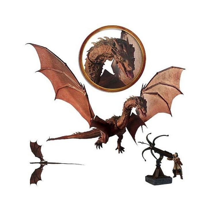 Amazon.com: Smaug Dragon The Hobbit The Battle of Five Armies Deluxe Poseable Action Figure: Toys & Games