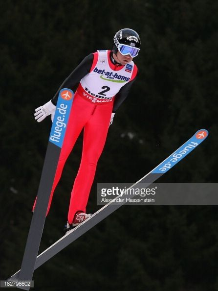 Nico Polychronidis of Greece in action during the Men's Ski Jumping HS134 Individual Qualification at the FIS Nordic World Ski Championshipson...