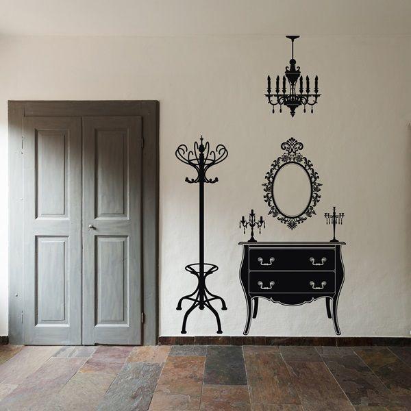 137 mejores im genes sobre vinilos siluetas y algo m s - Ultimas tendencias en decoracion de paredes ...