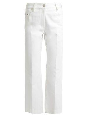 Calvin Klein Collection Frey pierna recta cosecharon los pantalones vaqueros