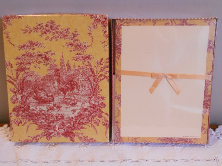 Vintage Writing Paper Waverly Toile Stationery Set Red New Old Stock by LuluandGandore on Etsy https://www.etsy.com/listing/172470344/vintage-writing-paper-waverly-toile
