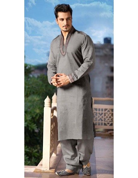 Decent Pure Linen Pathani Suit http://www.bharatplaza.com/b-fash/all-time-hits.html