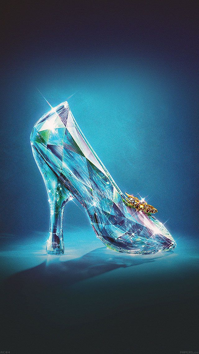 papers.co-ac04-wallpaper-cinderella-glass-slipper-shoes-illust-4-wallpaper.jpg (640×1136)