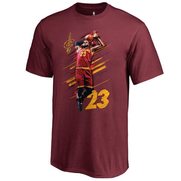 Youth Cleveland Cavaliers LeBron James Fanatics Branded Wine Fade Away T-Shirt