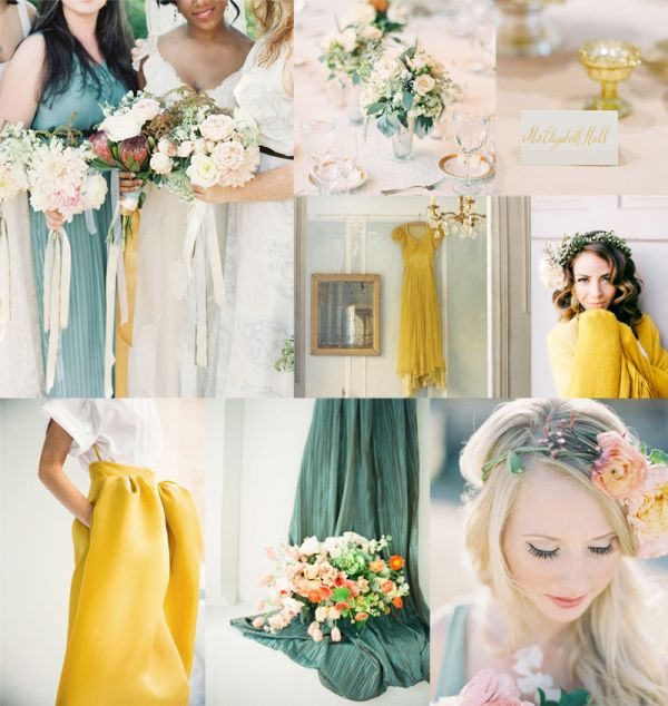 Dusty Teal and Lemon Wedding Colors | EAD