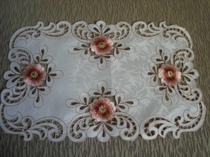 Resultado de imagen para manteles bordados a mano patrones - Manteles de mesa bordados ...
