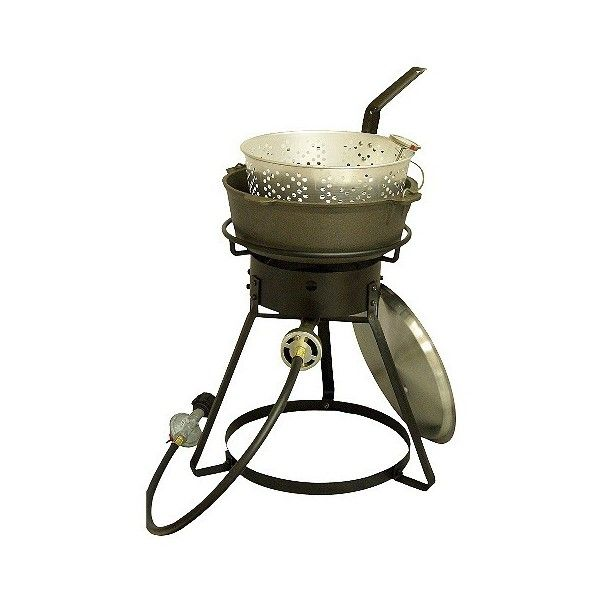 King Kooker Outdoor Cooker And Fryer: King Kooker Bolt Together... (90,755 KRW) ❤ liked on Polyvore featuring black