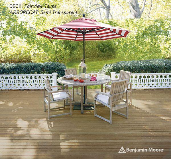 Enjoy your outdoor home with help from benjamin moore for Garden decking varnish