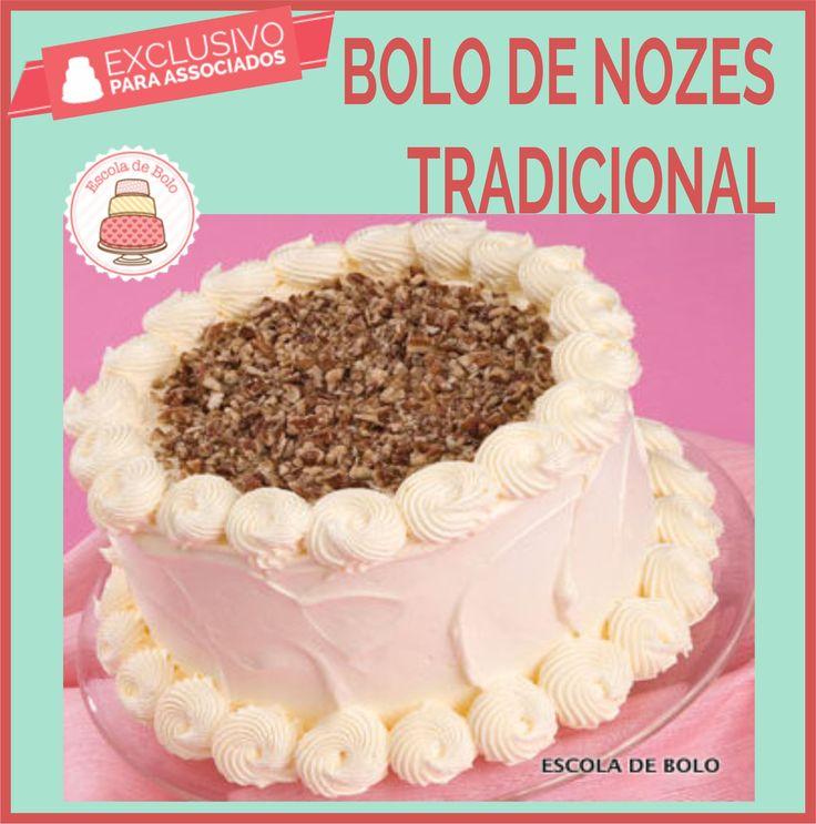 Bolo Sofisticado para uma ocasião especial #bolo #bolodenozes #receitasdoces