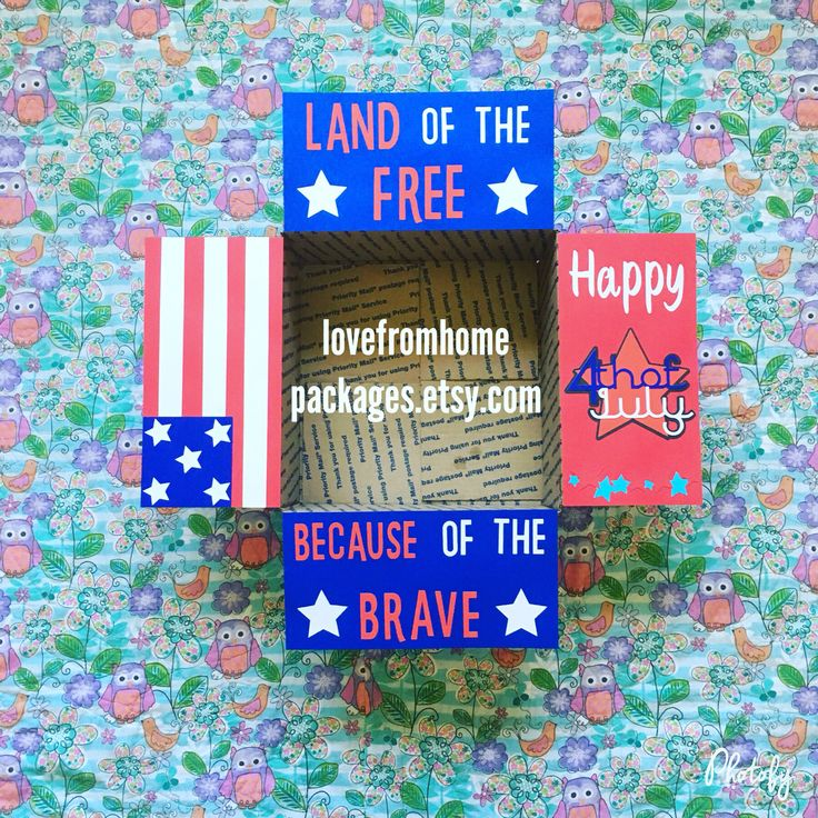 Fourth of July military Care Package from www.lovefromhomepackages.etsy.com