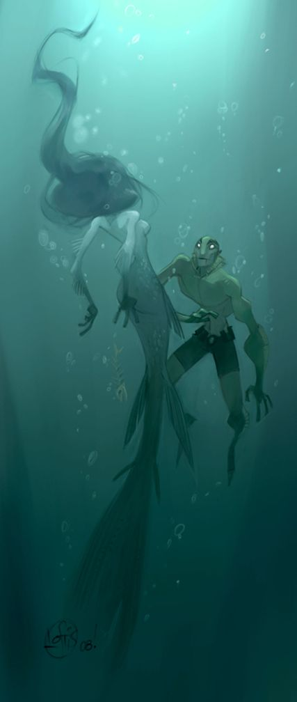 Abe Sapien. Not sure who the artist is for this one.