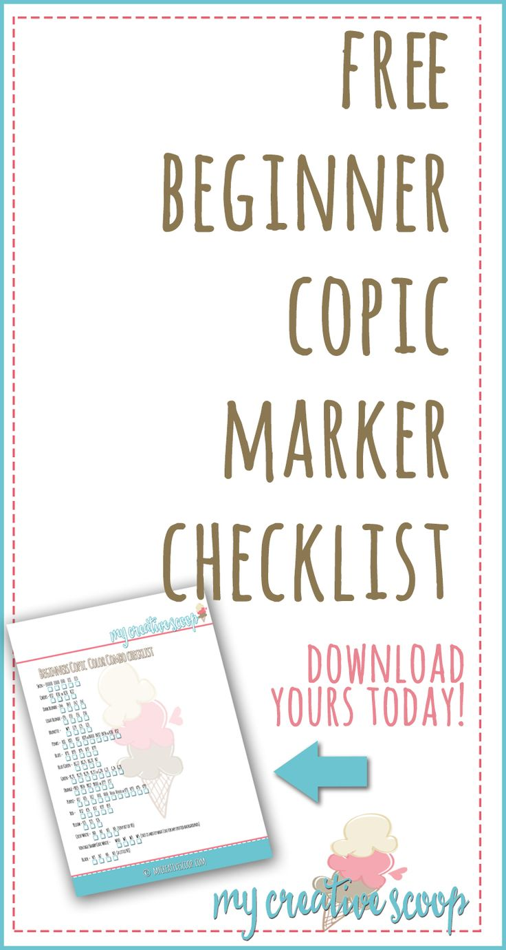 Are you new to Copic MArkers? Or do you struggle with what markers to buy? Download my FREE Copic Marker Checklist!