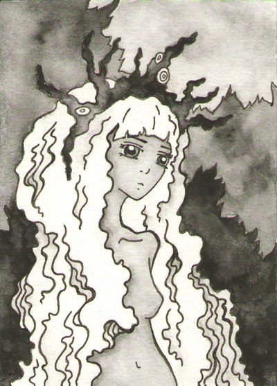 Forest Spirit  ACEO  Miniature Artwork by CuriousLemon on Etsy, $15.00