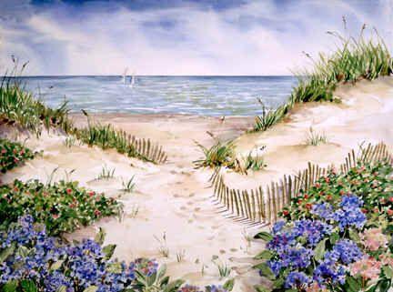 """""""Beach Fence"""" by Joy Waldman"""