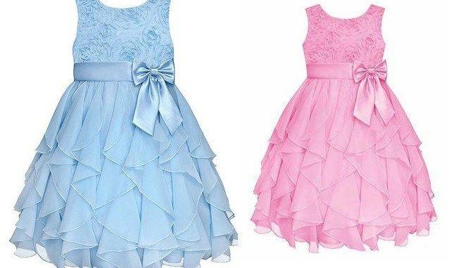 Patrón para hacer un Vestido con volantes en cascada, para niñas. Un vestido para las ocasiones especiales, como bodas, bautizos, comuniones o cualquier otro evento que lo requiera. Tallas d…