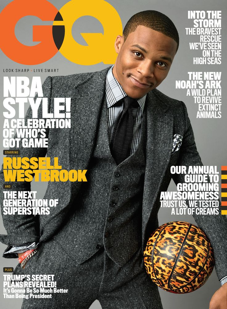 Russell Westbrook on the cover of GQ