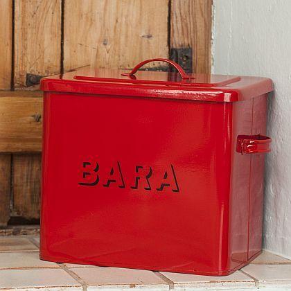 Medium Red Bara Bin