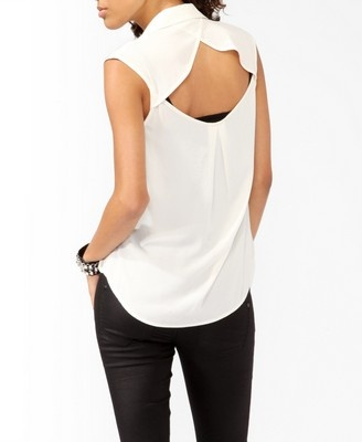 Cutout Back Shirt | FOREVER21 - 2011408247
